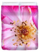 Pretty In Pink Rose Close Up Duvet Cover