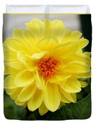 Pretty In Yellow Duvet Cover