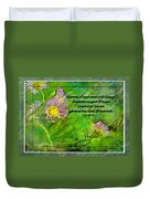 Pretty Little Weeds With Photoart And Verse Duvet Cover