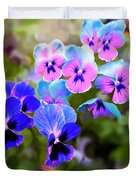 Pretty Pansies 2 Duvet Cover