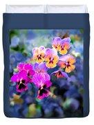 Pretty Pansies 3 Duvet Cover