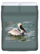 Pretty Pelican In Pond Duvet Cover