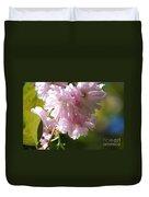 Pretty Pink Cherry Blossoms Duvet Cover