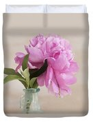 Pretty Pink Peony Duvet Cover