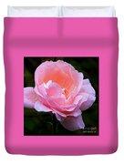 Pretty Pink Rose Duvet Cover