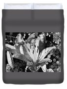 Pretty Pouting Pleasures A Black And White Painting Duvet Cover