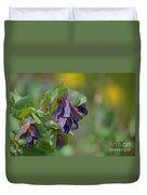 Pretty Purple Flowers In Ireland Duvet Cover