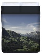 Pretty Sight Of The French Alps Duvet Cover