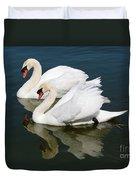 Pretty Swan Pair Duvet Cover