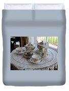Pretty Tea Set Duvet Cover