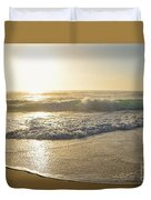 Pretty Waves At Glowing Sunrise By Kaye Menner Duvet Cover