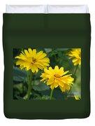 Pretty Yellow False Sunflowers In Bloom Duvet Cover