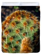 Prickly Cactus Leaf Green Brown Plant Fine Art Photography Print  Duvet Cover