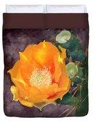 Prickly Pear Blossom Duvet Cover