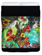 Prickly Pear Cactus And Friends, Southwestern Region Duvet Cover
