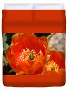 Prickly Pear In Bloom Duvet Cover