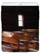 Primitive Church Duvet Cover