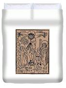 Primitive Crucifixion Duvet Cover
