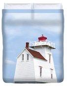 Prince Edward Island Lighthouse Duvet Cover