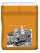 Princeton University - Dark Orange Duvet Cover