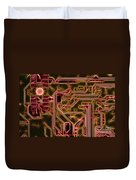 Printed Circuit - Motherboard Duvet Cover by Michal Boubin