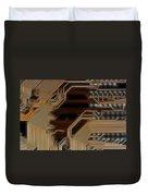 Printed Curcuit Duvet Cover by Michal Boubin