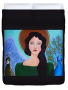 Priscilla  The Balancing Angel Of Love Duvet Cover