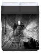 Prison Cell Black And White Duvet Cover