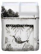 Prison Mural Duvet Cover