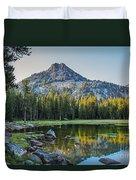 Pristine Alpine Lake Duvet Cover