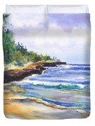 Pristine Mahaulepu Beach Duvet Cover
