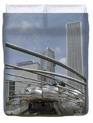 Pritzker South Facade Vertical Duvet Cover