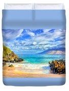 Private Beach At Wailea Maui Duvet Cover