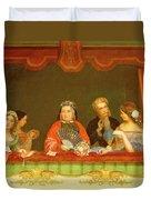 Private Box, Drury Lane, 1837 Duvet Cover