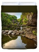 Private Pool Paradise - The Beautiful Scene Of The Seven Sacred Pools Of Maui. Duvet Cover