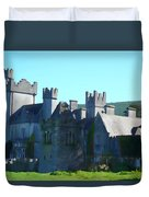 Private Property - Castle Art By Charlie Brock Duvet Cover
