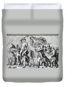 Procession Of Princes - Dresden Germany Duvet Cover