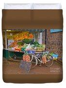 Produce Market In Corbridge Duvet Cover
