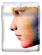 Profile Of A Woman Duvet Cover