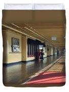 Promenade Deck Queen Mary Ocean Liner 01 Duvet Cover