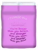 Promise Me - Winnie The Pooh - Pink Duvet Cover