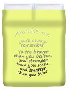 Promise Me - Winnie The Pooh - Yellow Duvet Cover