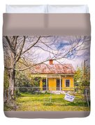 Promoting The Obvious - Paint Sketch Duvet Cover