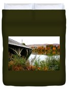 Prosser Bridge And Fall Colors On The River Duvet Cover