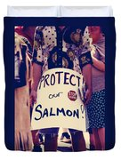 Protect Our Salmon Duvet Cover