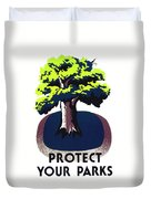 Protect Your Parks Wpa Duvet Cover