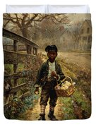 Protecting The Groceries Duvet Cover by Edward Lamson Henry