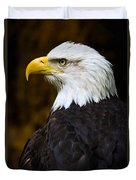 Proud Eagle Profile Duvet Cover by Athena Mckinzie