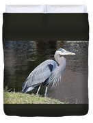 Proud Great Blue Heron Duvet Cover