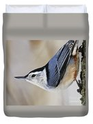 Proud Nuthatch... Duvet Cover